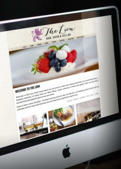 Desktop Version of Website for Restaurant