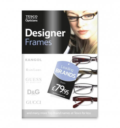 POS Design for Tesco Opticians: Image of Poster