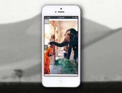 Mobile Version of Online Portfolio