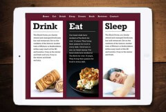 Drink, Eat and Sleep Page for the Restaurant Pages