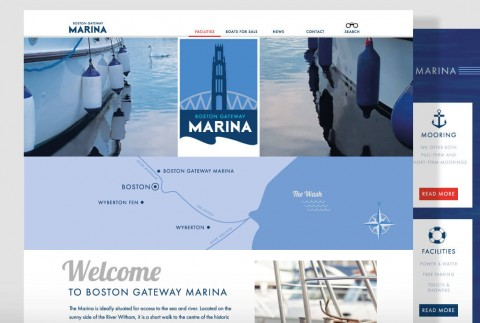 The Home page for Boston Marina