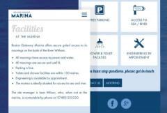 Marina website on mobile