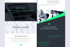 Instanda Homepage Design