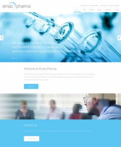 Pharmaceutical homepage design