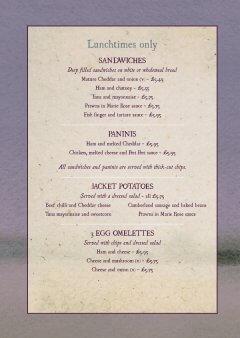 Inside of menu