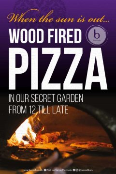 Wood fired pizza design template for Baroosh
