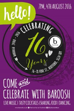 16 Years poster design template for Baroosh