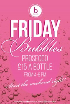 Friday Bubbles restaurant design template for Baroosh