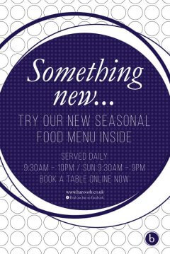 Something New typographic poster design template for Baroosh